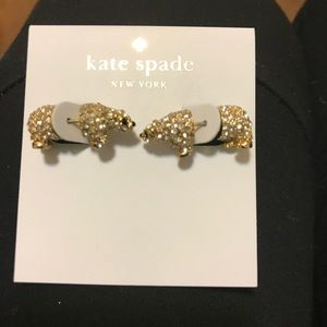New Kate Spade polar bear earrings